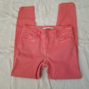 "Joes Jeans 27 Coral 'The High Water"" Stretch"